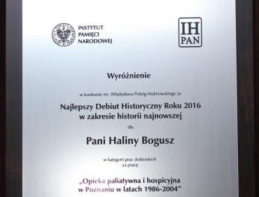 Najlepszy Debiut Historyczny Roku 2016