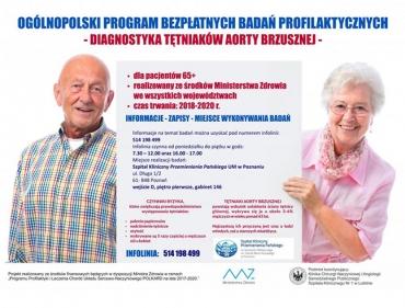 Bezpłatne badania przesiewowe w kierunku tętniaka aorty brzusznej