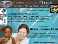 """Spotkanie z Afryką: """"Ghana - w sercu Afryki"""""""