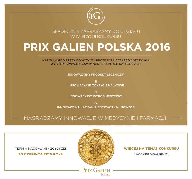 Konkurs Prix Galien Polska 2016