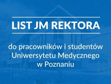 List JM Rektora do pracowników i studentów UMP