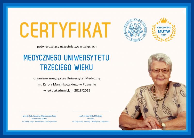 Zdjęcie - certyfikat