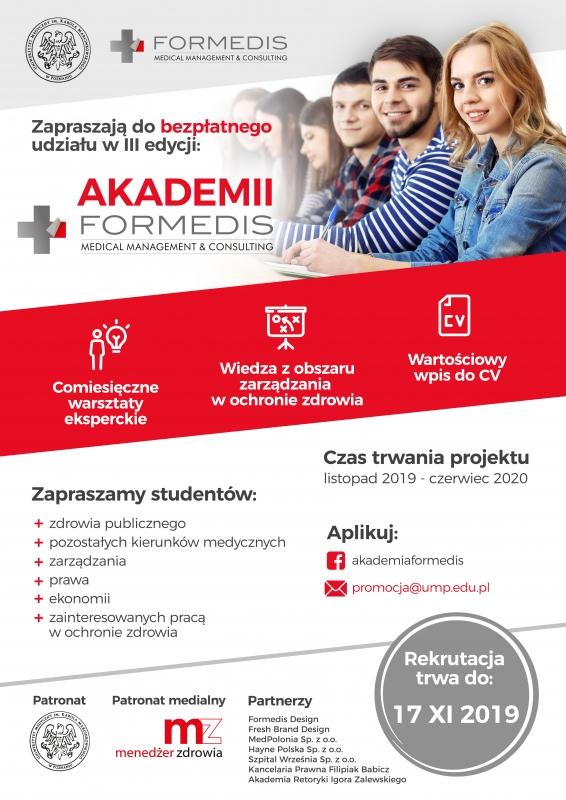 Plakat - Weź udział w Akademii FORMEDIS!