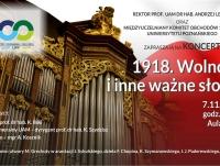 """Koncert """"1918. Wolność i inne ważne słowa"""""""